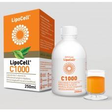 LipoCell C1000 vitamina C cu Lipozomi - Aroma de Orange 250 ml