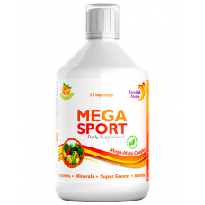 MEGA SPORT – Complex Lichid cu Aminoacizi 1500mg + Vitamine + Minerale + Verdeturi – 147 Ingrediente Active – 500 ml